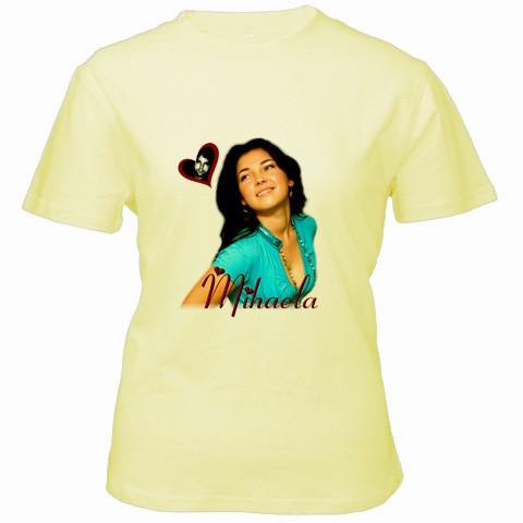 tricou personalizat galben pt femei