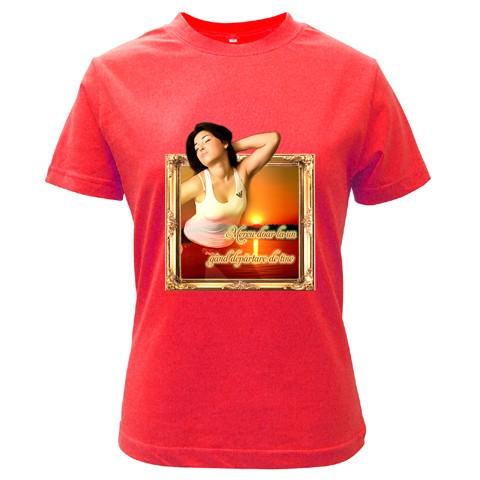 tricou personalizat  rosu pt femei