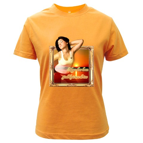 tricou personalizat orange femei