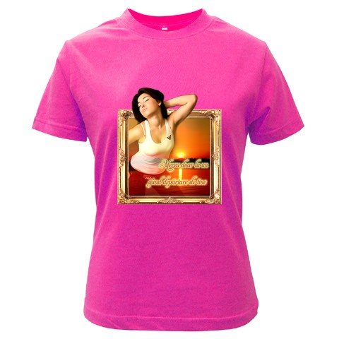 tricou personalizat violet pt femei