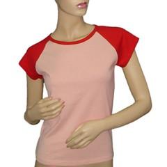 tricouri personalizate color femei, roz rosu, galben rosu