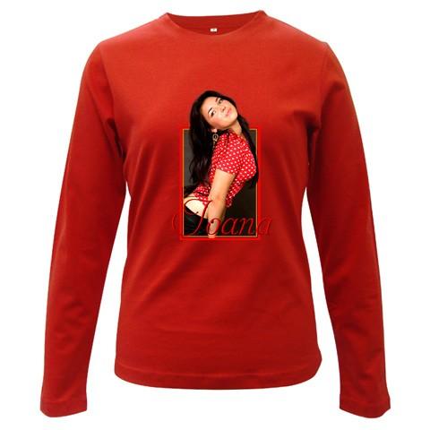 bluza personalizata femei, rosie