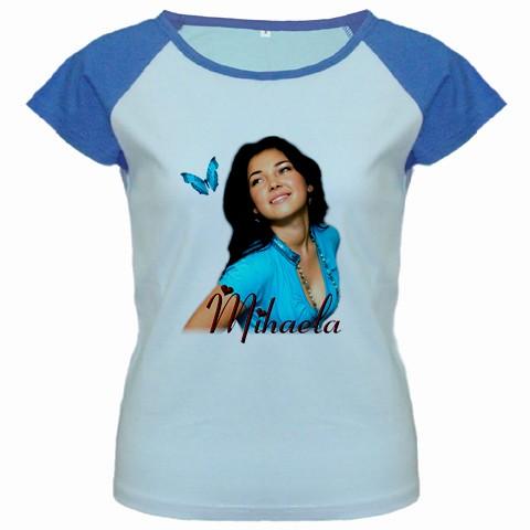 tricou personalizat femei, albastru