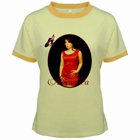 tricou personalizat galben, femei
