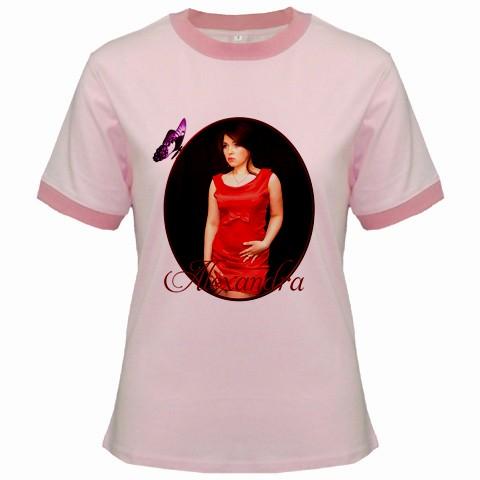 tricou personalizat roz pt femei