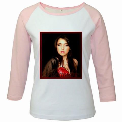 bluza personalizata femei, alb roz
