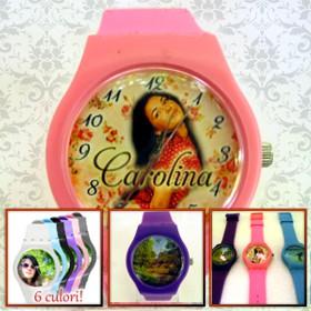 ceasuri de mana colorate personalizate cu poze