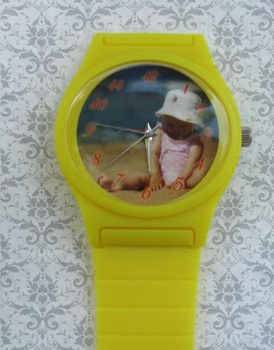 ceasuri de mana colorate mici, pentru copii si femei, personalizate cu poza