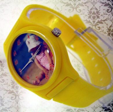 ceasuri curea de plastic, colorate, mici, personalizate