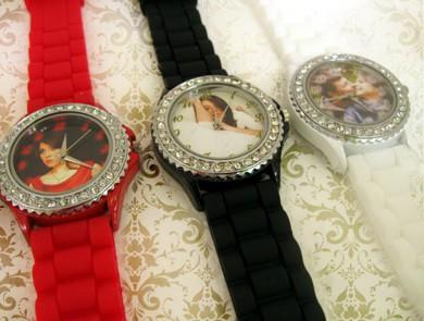 ceasuri de mana colorate, personalizate, curea silicon, personalizate cu poze, text