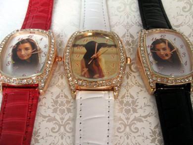 ceasuri dreptunghi cu cristale, pentru ea, personalizate