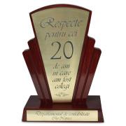 Trofeu personalizat mediu