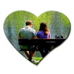 puzzle inima personalizat, carton