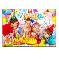 puzzle lemn personalizat Happy Birthday