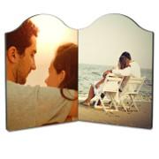 panel foto dublu rotunjit personalizat cu poza