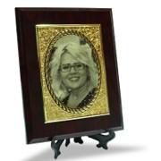 placa  fotogravura laser cu poza, suport lemn