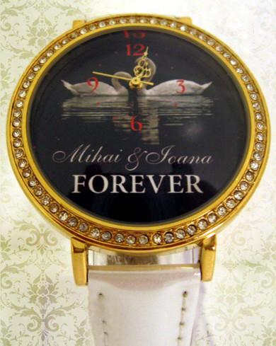 ceas cu cadran mare, ornamentat cu cristale, pentru ea, cadouri personalizate