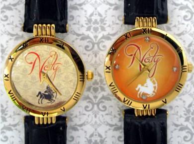 ceasuri de mana pentru ea, cadran aurit, personalizat cu propriile poze, text