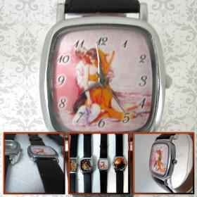 ceas de mana personalizat, patrat mic, pentru ea, copii