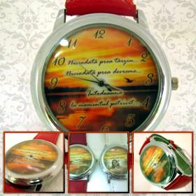 ceas de mana unisex personalizat, rotund mare