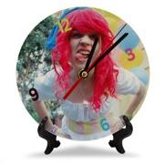Ceasuri personalizate cu poze pt birou, rotund, metalic
