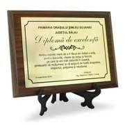 diploma aurie personalizata gravura text