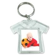 breloc plastic, tricou, personalizat cu poza