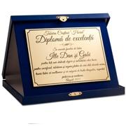 placheta diploma cutie albastra eleganta