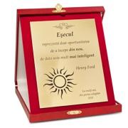 placheta diploma cutie rosie mare eleganta