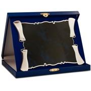 placheta pergament cutie albastra mare