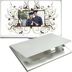 suport carti de vizita metalizat, personalizat cu poze