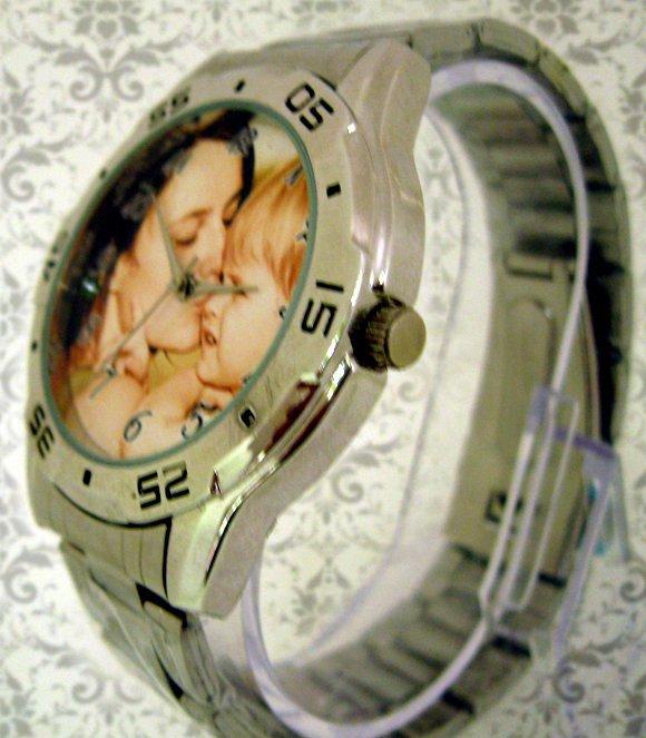 ceas pt el metalic, personalizat cu poze, cadou pt el