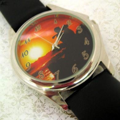 ceas pt el sau ea, rotund mediu, personalizat cu poze, cadouri personalizate