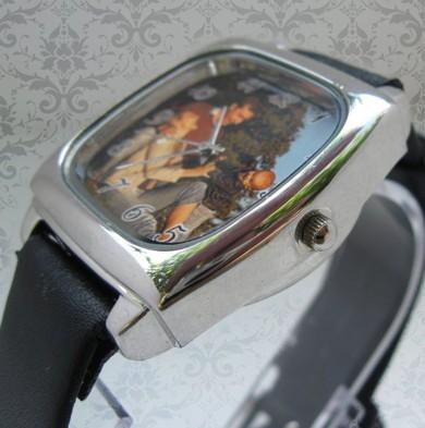 ceas patrat curea piele, personalizat