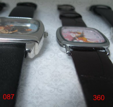 ceas personalizat de mana, unisex, patrat