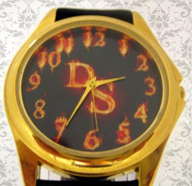 ceas aurit simplu curea piele, personalizat
