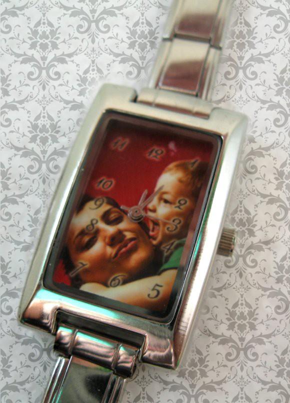 ceas dama, pt ea, personalizat cu poze, dreptunghi