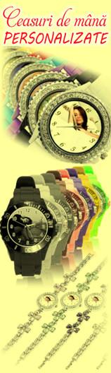 Ceasuri de mana personalizate, cadouri speciale.
