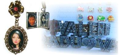 bijuterii personalizate, medalioane, pandantive, bratari, cercei, inelele, butoni