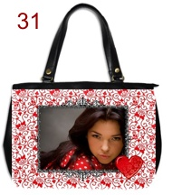 Genti si posete personalizate, model abstract romantic cu inima