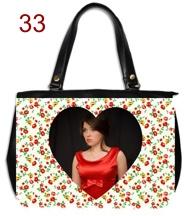 Genti si posete personalizate, buchete flori rosii cu poza inima