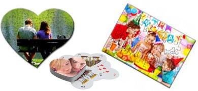 Cadouri haioase, puzzle personalizat, carti de joc personalizate