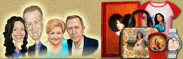 cadouri personalizate, caricaturi si portrete digitale