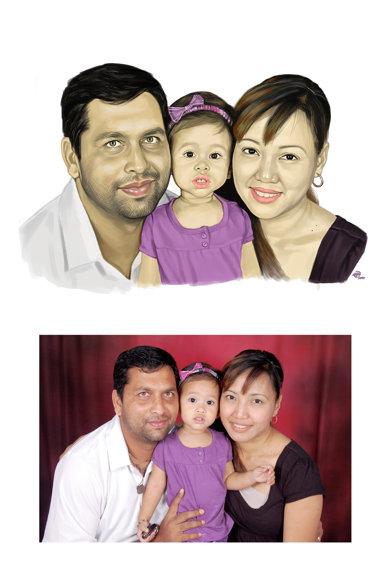 portret digital trei persoane