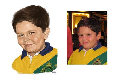 portret digital o persoana