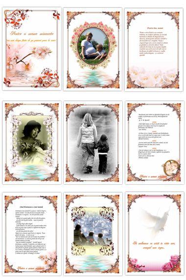 pagini de carti personalizate - cadouri pt mama