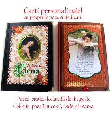 carti personalizate, cadouri personalizate unice