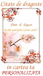 carti personalizate cu citate de dragoste