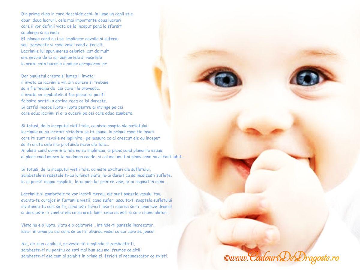 Mesaj de ziua copilului, www.CadouriDeDragoste.ro