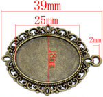 medalion oval vintage, vechi